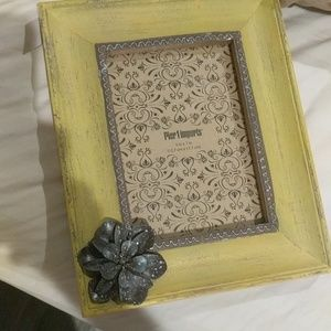 Yellow distressed picture frame 5 by 7 from Pier 1
